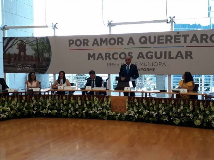 Marcos rinde su tercer informe de actividades municipales