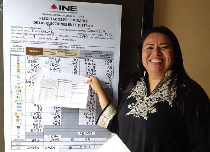 Sinaloa | Yadira Marcos recibe su constancia como Diputada Federal
