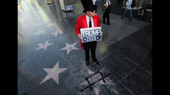 Destrozan estrella de Trump en Hollywood