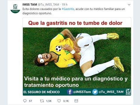 IMSS de Tamaulipas usa a Neymar para fomentar la visita al doctor