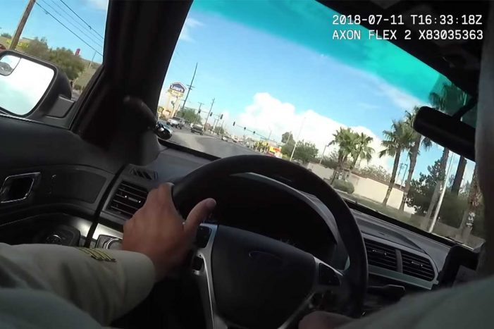 Impresionante video de persecución policiaca en Las Vegas