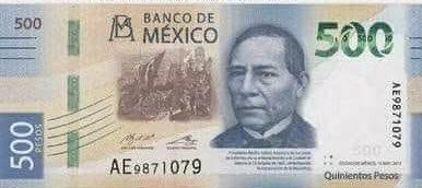 Lanzan el nuevo billete de $500 con la imagen de Benito Juárez