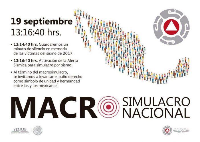 Protección Civil invita a participar en megasimulacro el 19 de septiembre