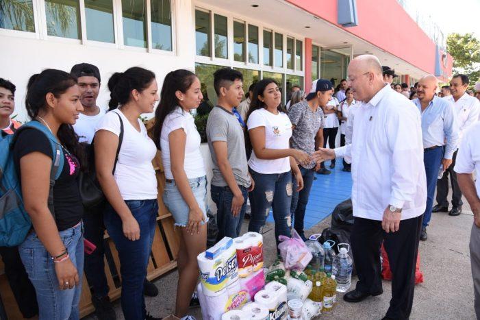 Sinaloa | Llama rector de la UAS a apoyar a damnificados de Willa