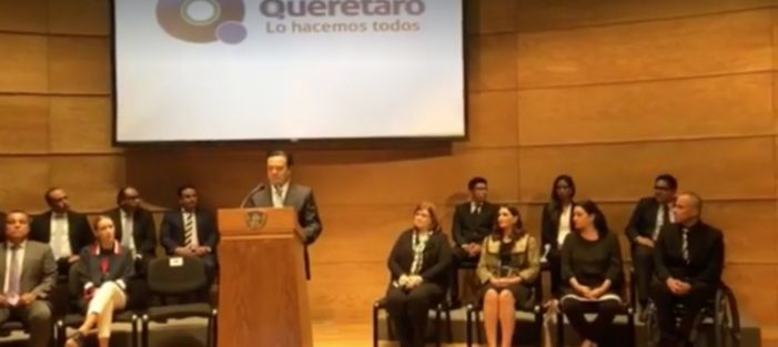 Luis Bernardo Nava Guerrero presenta Gabinete ampliado y delegados municipales