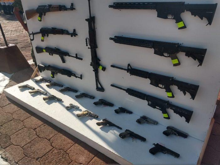 Realiza SEDENA destrucción de armamento en la XII Región Militar en Querétaro