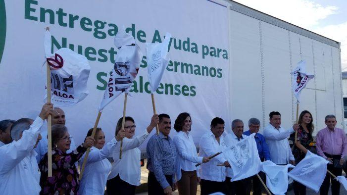 Sinaloa | Dona ISSSTE 75 toneladas de víveres a damnificados