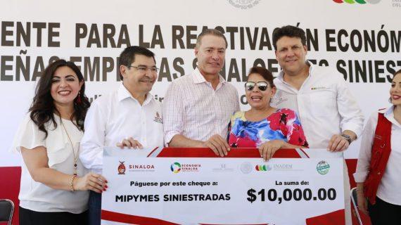 Sinaloa | Fluyen cheques para reactivar a Mipymes siniestradas