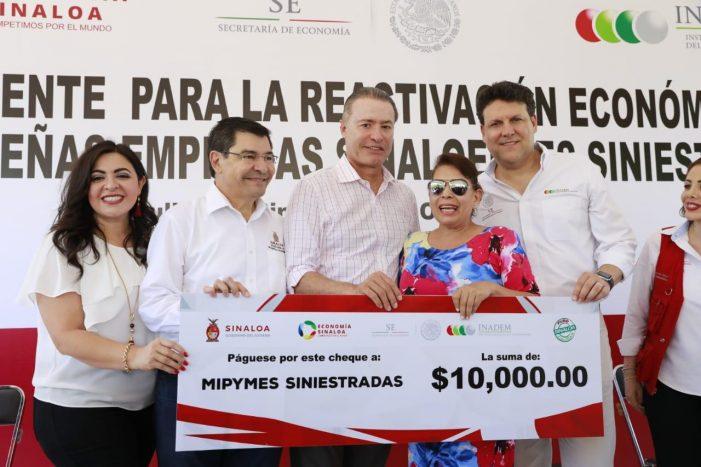 Sinaloa   Fluyen cheques para reactivar a Mipymes siniestradas