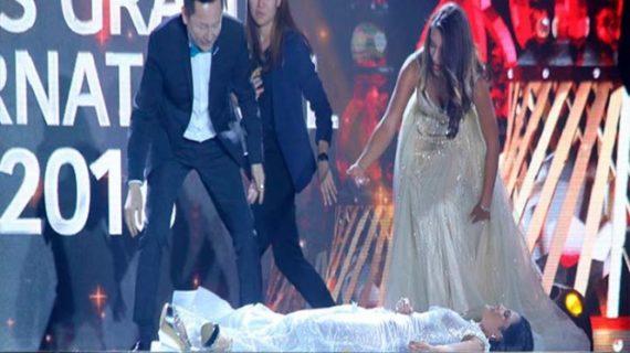 Miss Paraguay se desmaya cuando la declaran ganadora