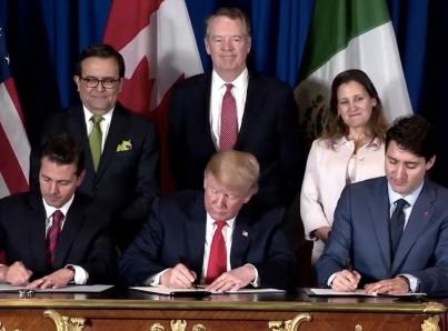 Peña Nieto firma el Tratado México, Estados Unidos y Canadá (T-MEC)