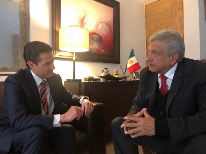 AMLO y Peña Nieto afinan detalles para el 1 de diciembre