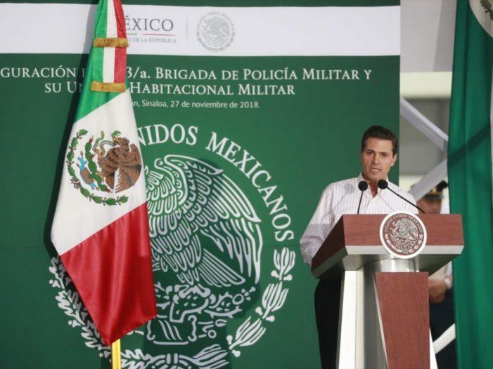 Inauguran Base Militar 'El Sauz' en Sinaloa