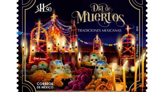 """La estampilla del """"Día de Muertos"""" de Correos de México"""