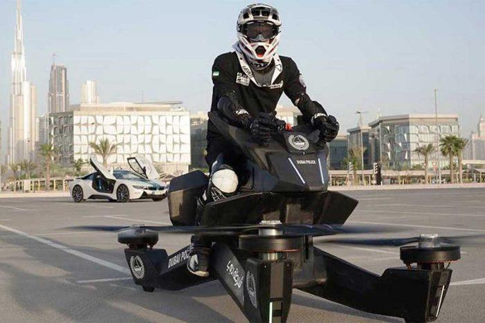 La policía de Dubai usará motos voladoras
