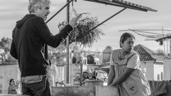 """El detrás de cámaras de """"Roma"""" con Alfonso Cuarón."""