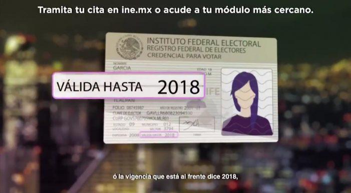 INE anuncia nueva credencial para 2019