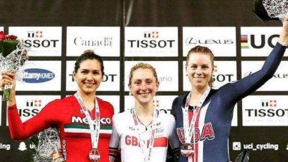 Ciclistas sinaloenses Yareli García y Daniela Gaxiola, ganan oro y bronce en Portugal