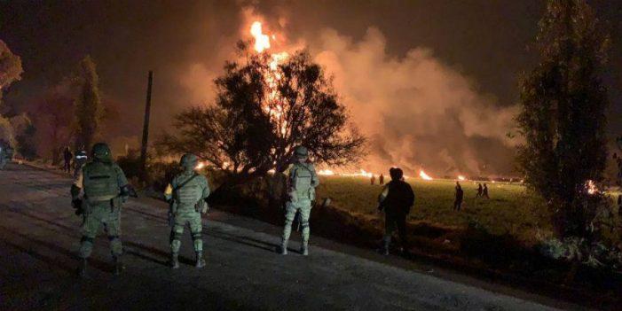 Explosión en ducto de Hidalgo deja decenas de muertos y heridos