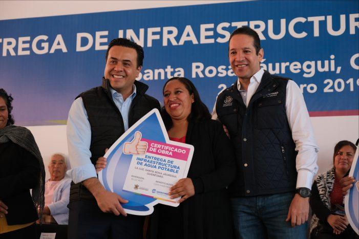 Gobernador entrega infraestructura de agua potable a Santa Rosa Jáuregui