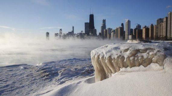 Imágenes de la congelada Chicago