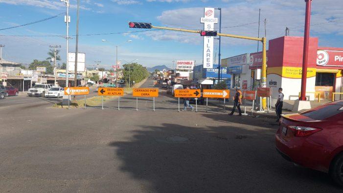 Aviso: cierran carriles en bulevar Benjamín Hill y cruce con Pablo Macías en Culiacán