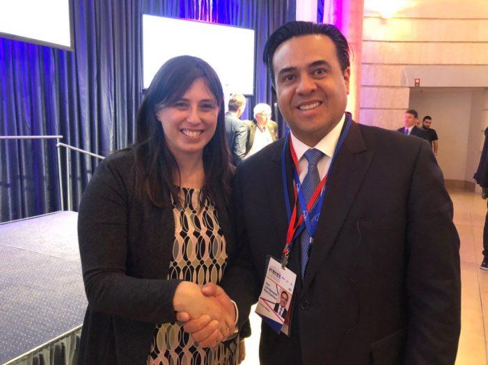Luis Nava dialoga con ministra de Relaciones Exteriores de Israel