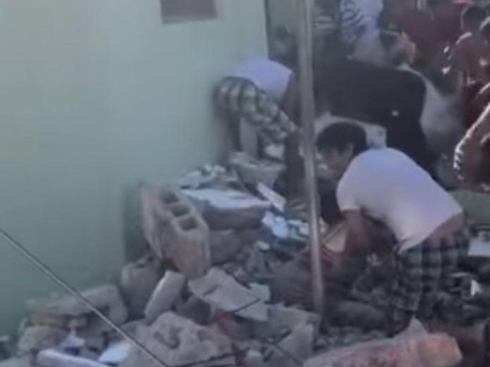 Se derrumba bar en Yucatán