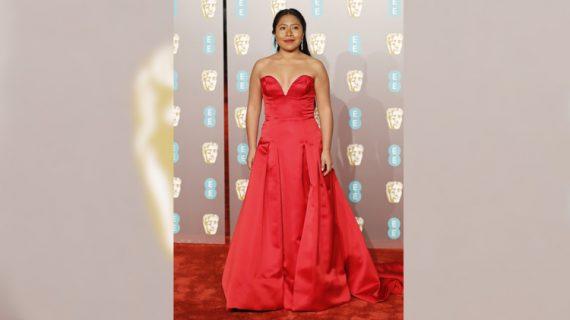 El escote de Yalitza Aparicio que sorprendió en los Premios BAFTA