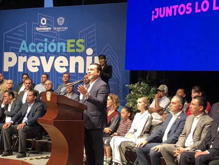 Luis Nava presenta AcciónEs Prevenir