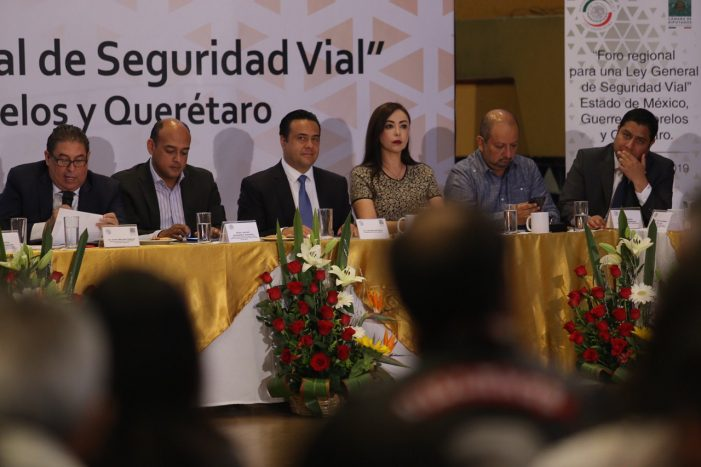 Luis Nava propone trabajo conjunto a favor de la seguridad vial