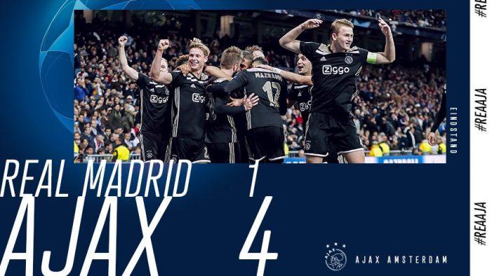 ¡El Ajax elimina al Real Madrid en los octavos de la Champions!