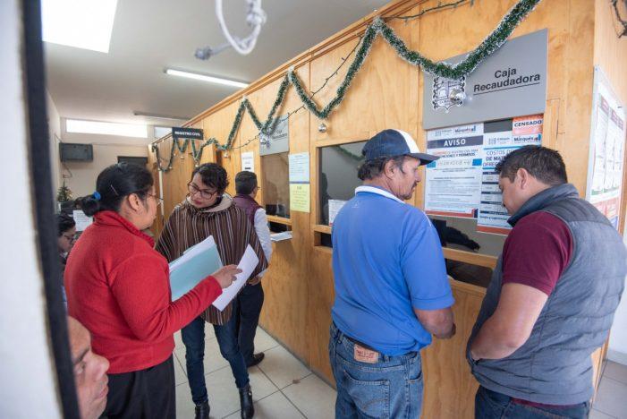 Ciudadanos de El Marqués aprovechan descuentos en el predial
