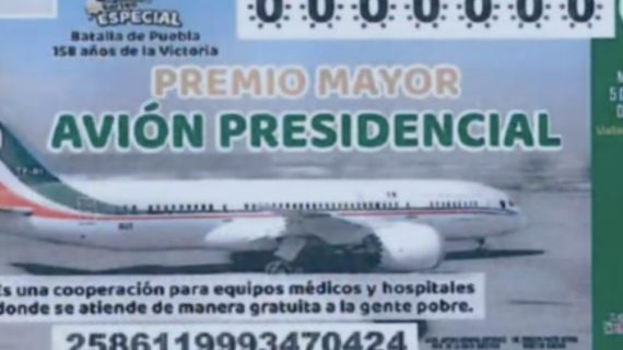 AMLO presenta proyecto de billete de la Lotería para rifar avión