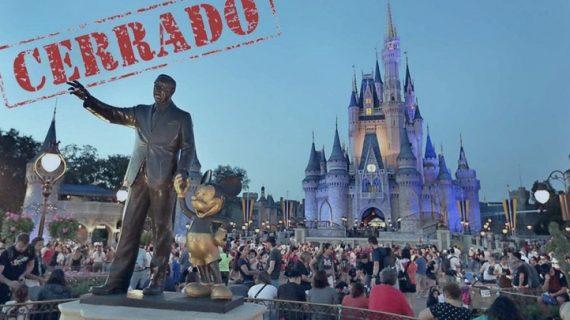 Disneylandia cierra sus puertas por Covid-19